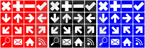 Set Of Many Different Icons Stock Image - Image: 18880021