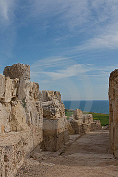 Ancient Street In Kourion Stock Images - Image: 18885154