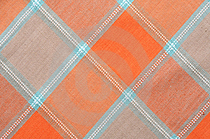 Checkered Tablecloth Background Stock Photo - Image: 18893590