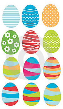 Set Of Easter Eggs Royalty Free Stock Photo - Image: 18894515