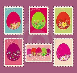 Easter Postage Stamps Royalty Free Stock Image - Image: 18896196