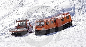 Winter Special Transportation Vehicles Royalty Free Stock Image - Image: 18896736