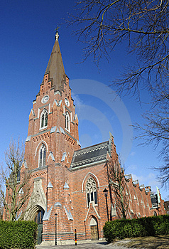 Swedish Church - Entry View Royalty Free Stock Images - Image: 18899219