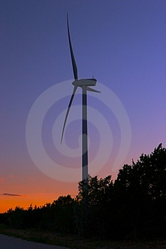 Wind Farm At Dusk Stock Photos - Image: 1894193
