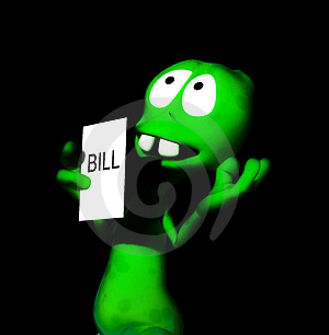 Alien Bill 32 Royalty Free Stock Images - Image: 1896249
