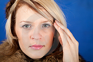 Young Woman Having A Headache Close Up Royalty Free Stock Photos - Image: 18900198