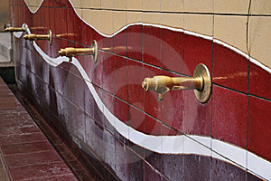 Water Taps Row Stock Image - Image: 18905421