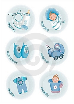 Baby Icons Royalty Free Stock Photos - Image: 18905488