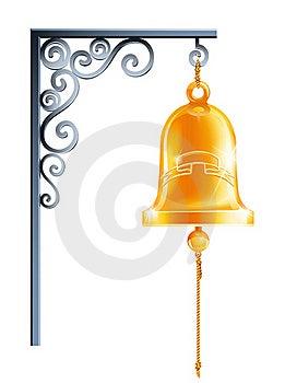 Retro Bell At Bracket Eps10 Stock Photo - Image: 18905600