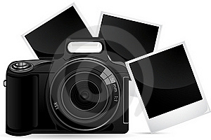 Camera With Photograph Stock Images - Image: 18905934
