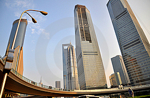 The Cityscape Of Shanghai Royalty Free Stock Photography - Image: 18906787