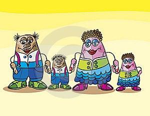 Family Cartoon Royalty Free Stock Photography - Image: 18907657