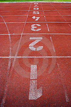 Number And Running Track Royalty Free Stock Photography - Image: 18909537