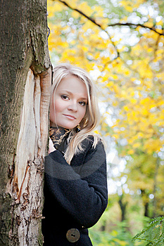 Autumn Portrait Of Blonde Girl Stock Photos - Image: 18913973