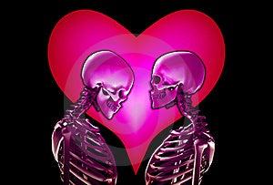 Squelettes Avec Le Coeur D'amour Photos libres de droits - Image: 18915248