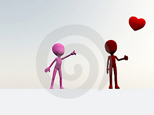 I Love Your Balloon Royalty Free Stock Image - Image: 18915696