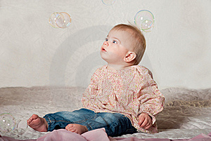 Baby With Bubbles Stock Images - Image: 18917114