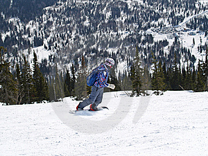 Snowboarder In The Mountains Shoria Royalty Free Stock Photography - Image: 18917267