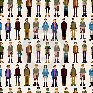 Seamless Young Boy Pattern Royalty Free Stock Image - Image: 18917566