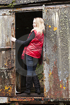 Girl In Red Stock Photography - Image: 18918802