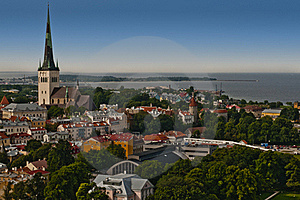 Panorama Of City Of Tallinn Stock Photography - Image: 18919272