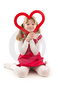 Girl And Heart Stock Images - Image: 18920854