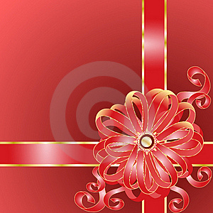 Claret Gift With A Pink Bow Royalty Free Stock Photos - Image: 18923058