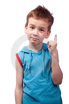 Preschooler In Blue Shirt Stock Image - Image: 18924311