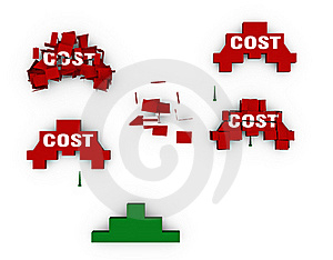 Shoot Down The Costs Stock Photo - Image: 18924900