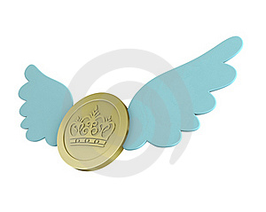 Flying Coin Royalty Free Stock Photo - Image: 18924915