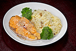 Salmon Prepared On Fire Stock Images - Image: 18927814