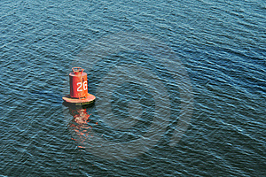 Buoy On The Water Surface For Safe Navigation Stock Photo - Image: 18929500