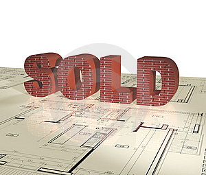 Sold - 3D Single Word Royalty Free Stock Photography - Image: 18929507