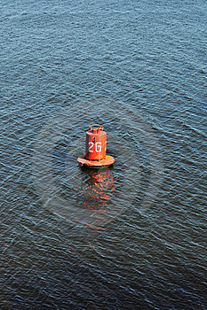 Buoy On The Water, Marine Distance Marker Royalty Free Stock Photos - Image: 18929508