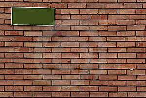 Brick Wall With Sign On It Stock Photos - Image: 18930263