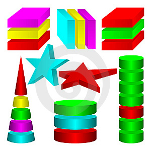 Multicolored Figures. Royalty Free Stock Photo - Image: 18931165