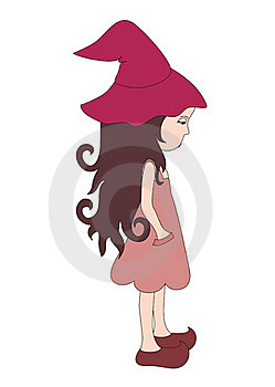 Sad Little Witch Stock Image - Image: 18931181