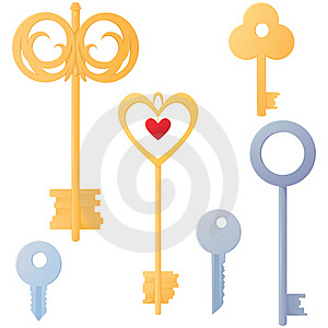 Set Of Keys Royalty Free Stock Image - Image: 18932876