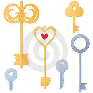 Set Of Keys Royalty Free Stock Image - Image: 18932876