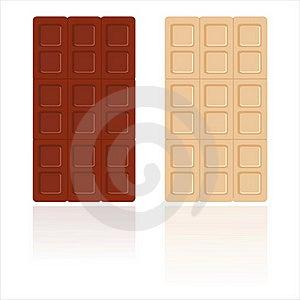 Chocolates Isolated On White Stock Image - Image: 18934111