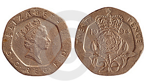 Coin Of Great Britain 1994 Year Royalty Free Stock Photography - Image: 18935247