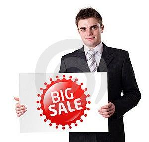 Man Holding BIG SALE Sign Stock Image - Image: 18937991