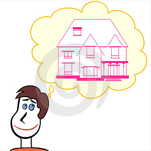 Man Dreaming About Home Royalty Free Stock Images - Image: 18938269