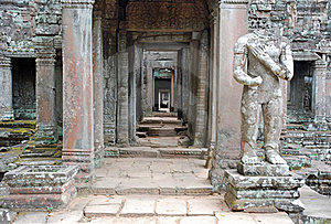 Angkor Temple Preah Khan, Cambodia Stock Images - Image: 18939804