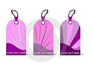 Pink Tags, Cdr Vector Stock Photo - Image: 18939810