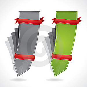 Vertical Bended Promotional Banners Royalty Free Stock Photos - Image: 18944128