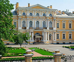 School Named For Suvorov Royalty Free Stock Photography - Image: 18944667