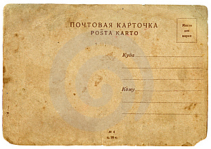 Old Postcard. Downside. Royalty Free Stock Images - Image: 18945679