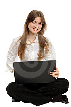 Woman With A Laptop Stock Photography - Image: 18947732