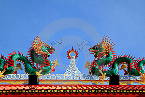 Two Dragons Fighting Royalty Free Stock Photo - Image: 18954245